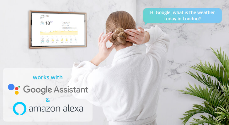 Voice control smart TV with google assistant.