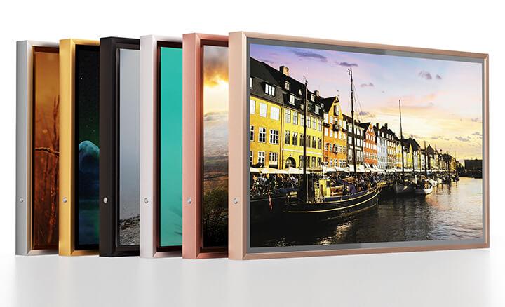Beautiful matte frame around smart TV.